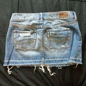 Bullhead Shorts - Distressed Jean skirt
